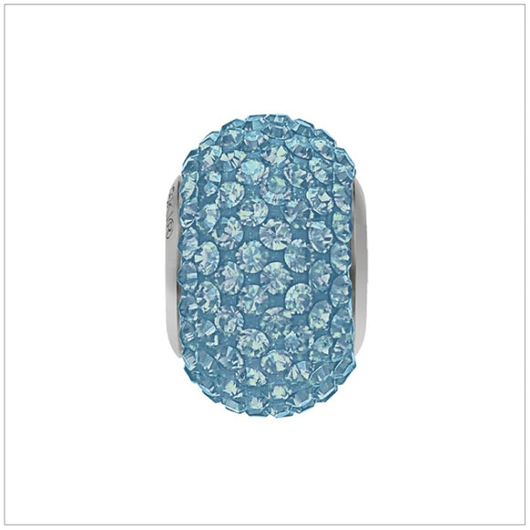 Swarovski Element Becharmed Pave Charm - Aquamarine