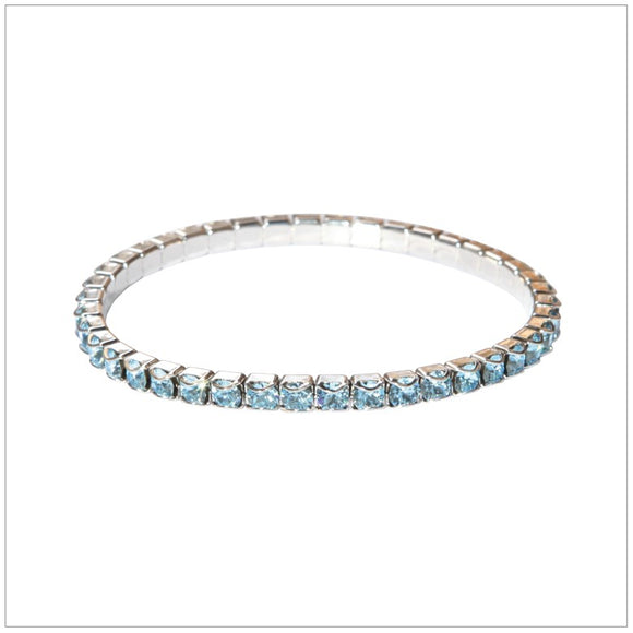 Swarovski Element Chaton Bracelet - Aquamarine