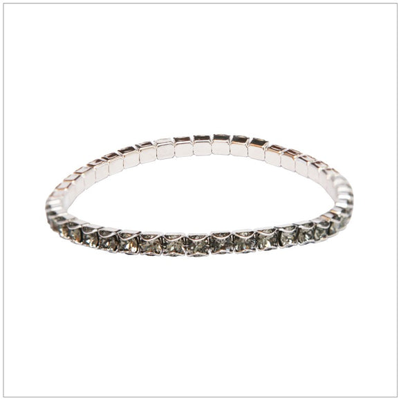 Swarovski Element Chaton Bracelet - Black Diamond