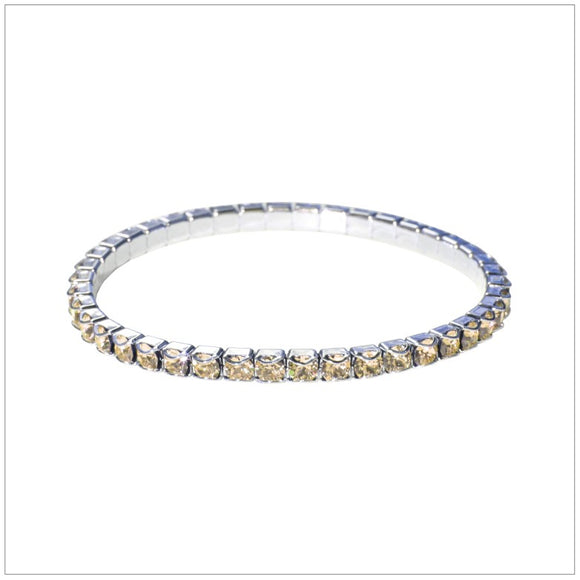 Swarovski Element Chaton Bracelet - Golden Shadow