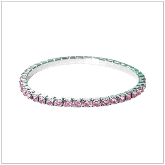 Swarovski Element Chaton Bracelet - Light Rose