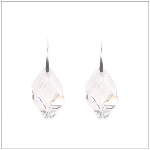 Swarovski Element Cubist Earrings - Crystal - swarovski jewellery south africa kcrystals
