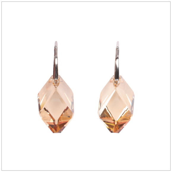 Swarovski Element Cubist Earrings - Golden Shadow - swarovski jewellery south africa kcrystals