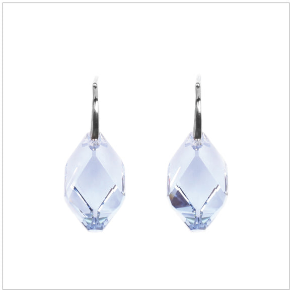 Swarovski Element Cubist Earrings - Light Sapphire - swarovski jewellery south africa kcrystals