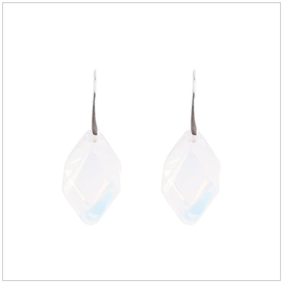 Swarovski Element Cubist Earrings - White Opal - swarovski jewellery south africa kcrystals
