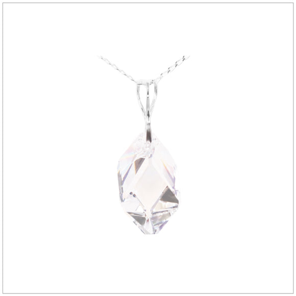 Swarovski Element Cubist Necklace - Crystal - swarovski jewellery south africa kcrystals