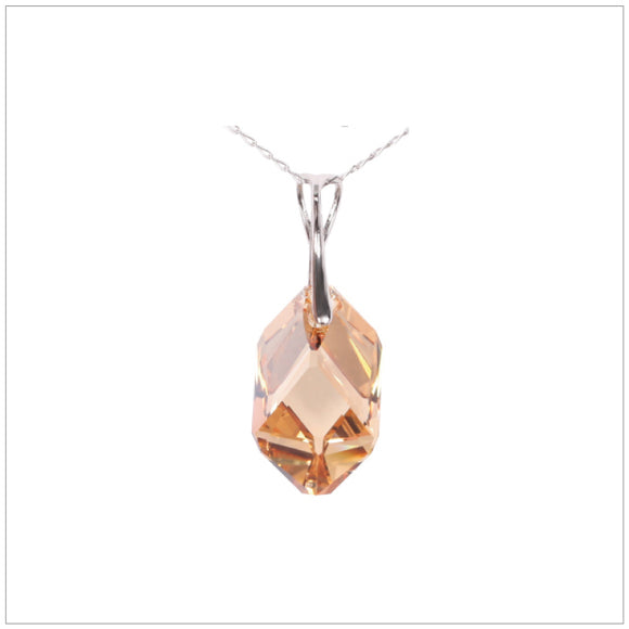 Swarovski Element Cubist Necklace - Golden Shadow - swarovski jewellery south africa kcrystals