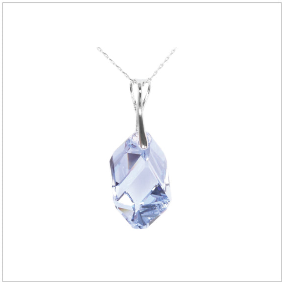 Swarovski Element Cubist Necklace - Light Sapphire - swarovski jewellery south africa kcrystals