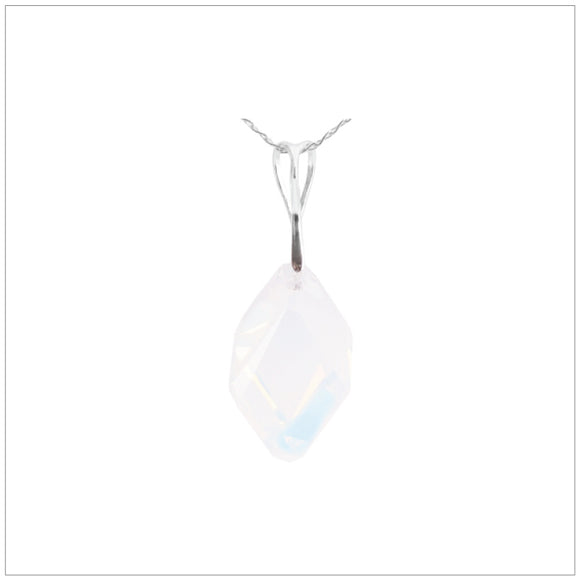Swarovski Element Cubist Necklace - White Opal - swarovski jewellery south africa kcrystals