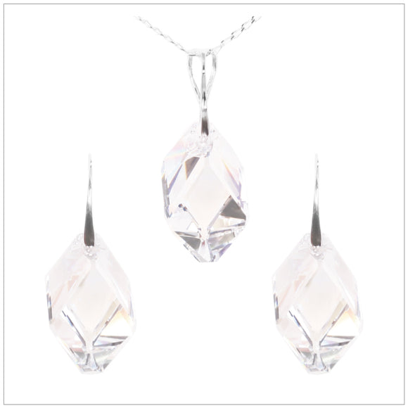 Swarovski Element Cubist Set - Crystal - swarovski jewellery south africa kcrystals