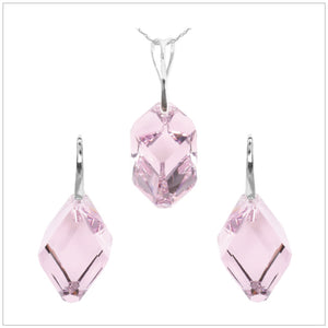 Swarovski Element Cubist Set - Light Amethyst - swarovski jewellery south africa kcrystals