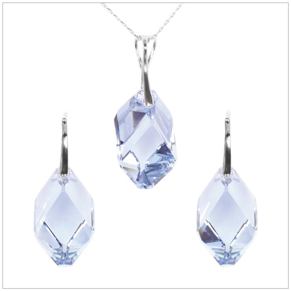 Swarovski Element Cubist Set - Light Sapphire - K. Crystals Online