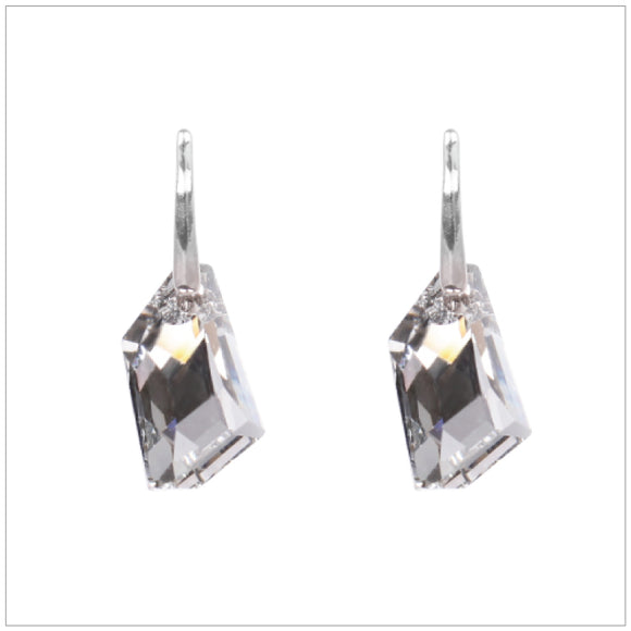 Swarovski Element De-Art Earrings - Chrome/Labrador - swarovski jewellery south africa kcrystals