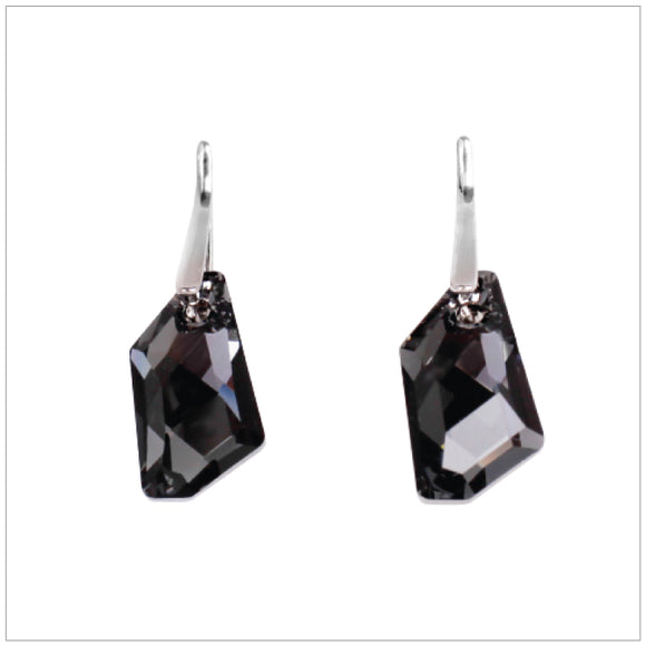 Swarovski Element De-Art Earrings - Silver Night - swarovski jewellery south africa kcrystals