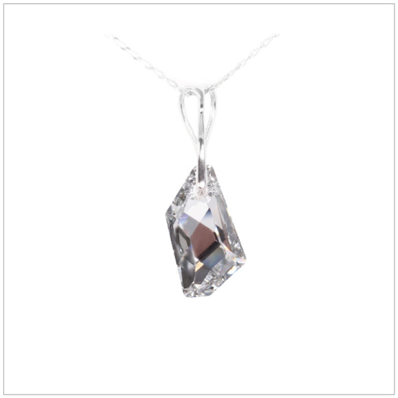 Swarovski Element De-Art Necklace - Chrome/Labrador - swarovski jewellery south africa kcrystals