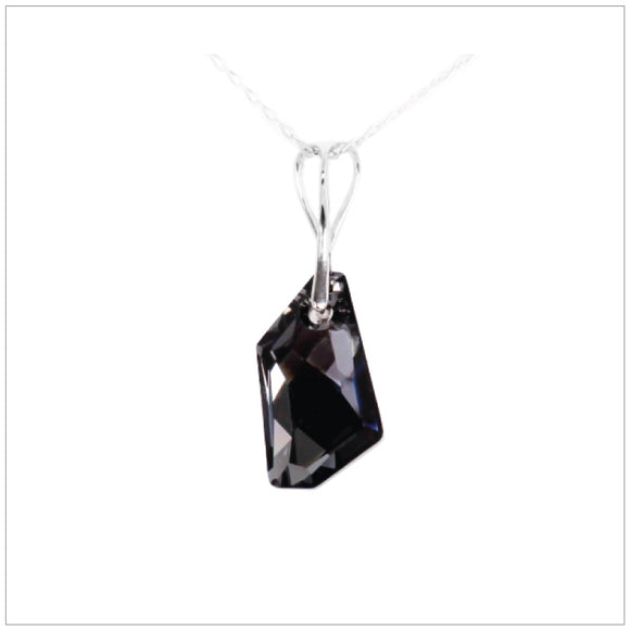 Swarovski Element De-Art Necklace - Silver Night - swarovski jewellery south africa kcrystals