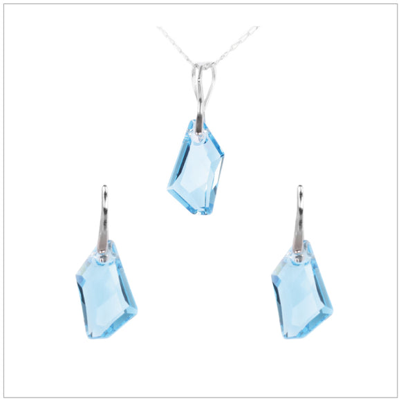 Swarovski Element De-Art Set - Aquamarine - swarovski jewellery south africa kcrystals