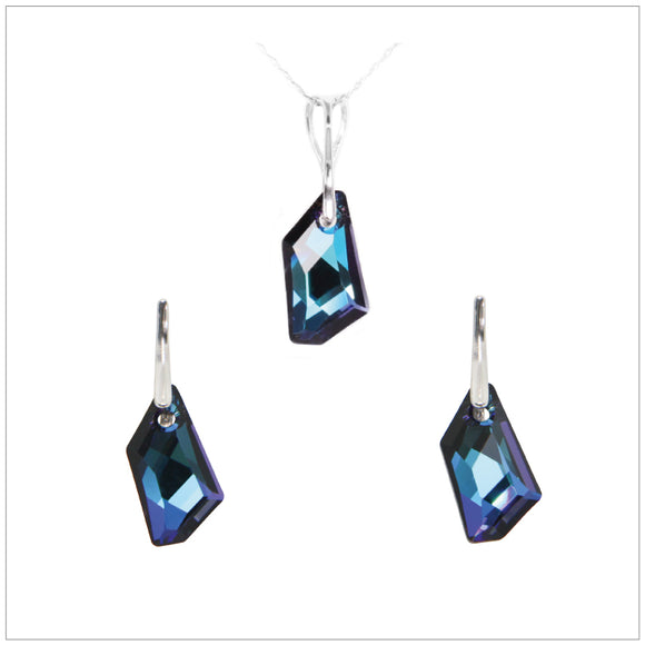 Swarovski Element De-Art Set - Bermuda Blue - swarovski jewellery south africa kcrystals