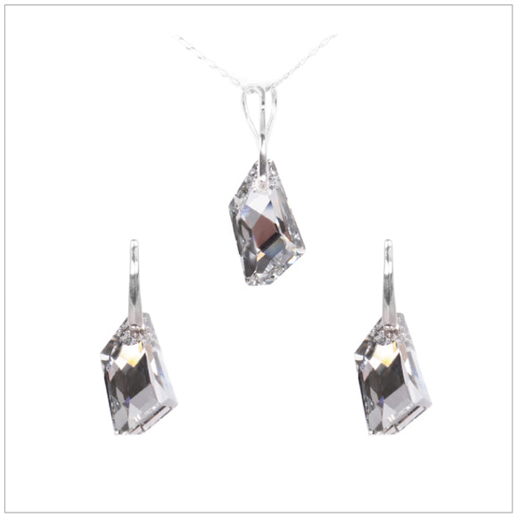 Swarovski Element De-Art Set - Chrome/Labrador - swarovski jewellery south africa kcrystals