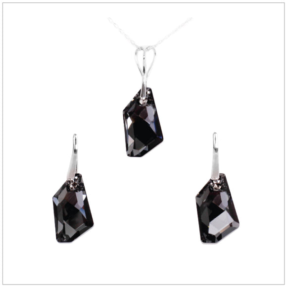 Swarovski Element De-Art Set - Silver Night - swarovski jewellery south africa kcrystals