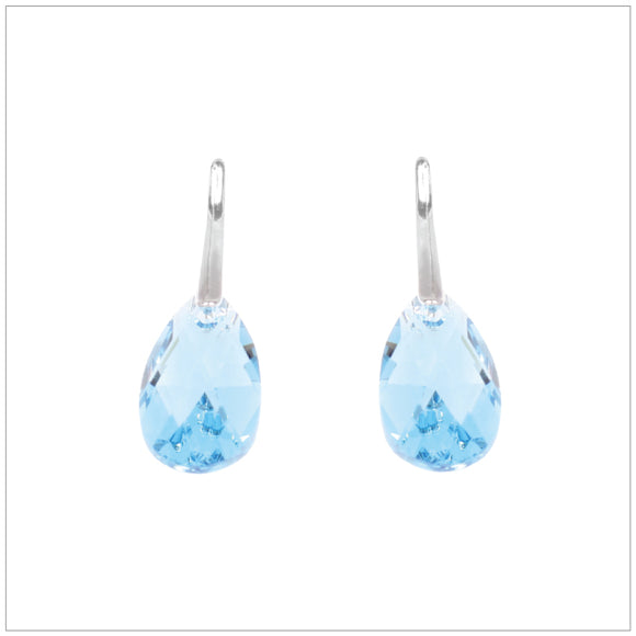 Swarovski Element Drop Earrings - Aquamarine - swarovski jewellery south africa kcrystals