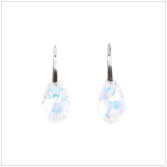 Swarovski Element Drop Earrings - Aurore Boreale - K. Crystals Online