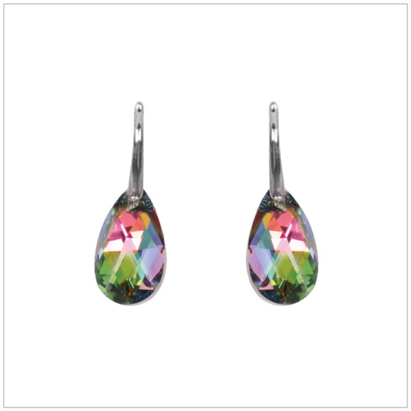 Swarovski Element Drop Earrings - Vitrail Medium - swarovski jewellery south africa kcrystals