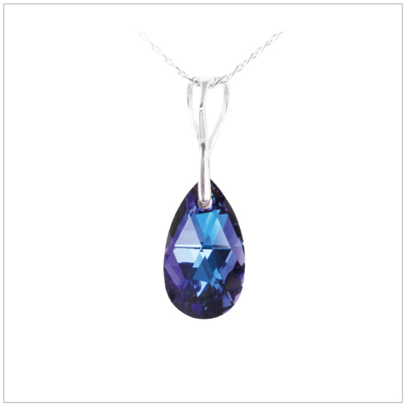 Swarovski Element Drop Necklace - Bermuda Blue - swarovski jewellery south africa kcrystals
