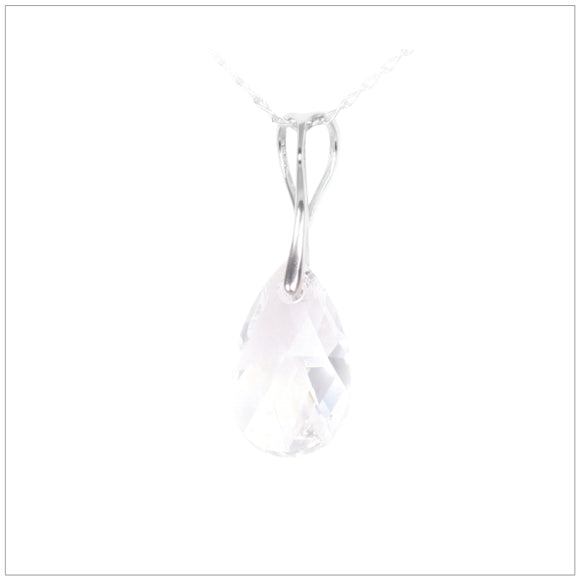 Swarovski Element Drop Necklace - Crystal - swarovski jewellery south africa kcrystals