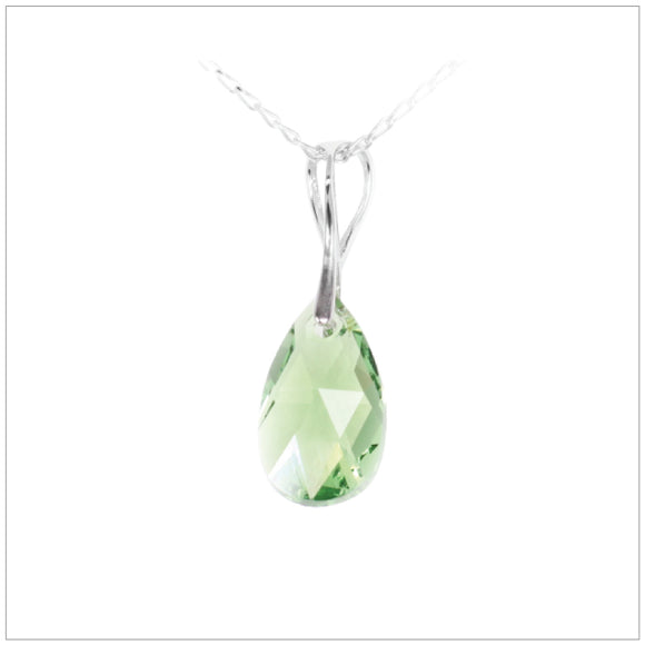 Swarovski Element Drop Necklace - Peridot - swarovski jewellery south africa kcrystals