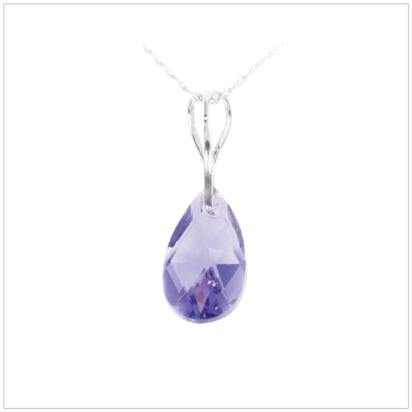 Swarovski Element Drop Necklace - Tanzanite - swarovski jewellery south africa kcrystals