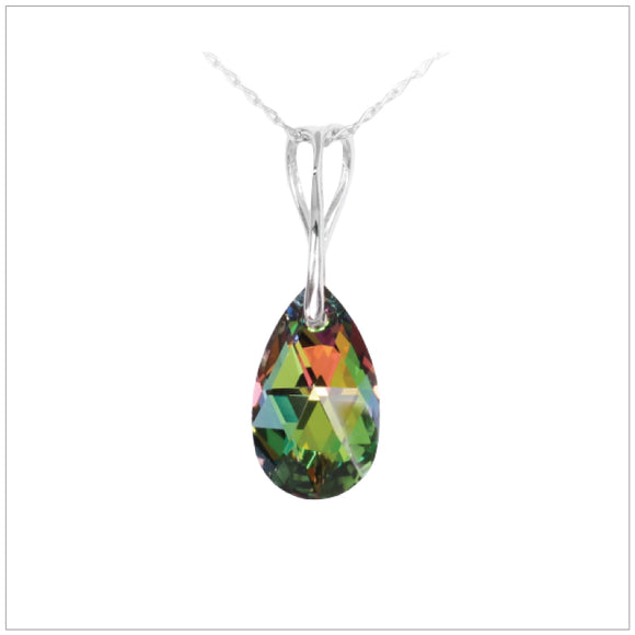 Swarovski Element Drop Necklace - Vitrail Medium - swarovski jewellery south africa kcrystals