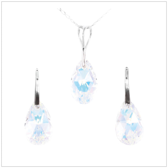 Swarovski Element Drop Set - Aurore Boreale - swarovski jewellery south africa kcrystals