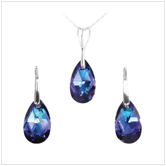 Swarovski Element Drop Set - Bermuda Blue - swarovski jewellery south africa kcrystals