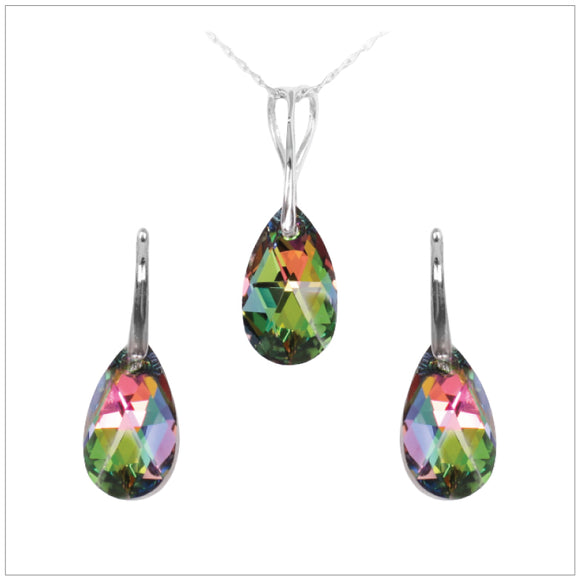 Swarovski Element Drop Set - Vitrail Medium - swarovski jewellery south africa kcrystals