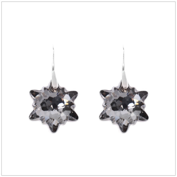 Swarovski Element Edelweiss Earrings - Silver Night - swarovski jewellery south africa kcrystals