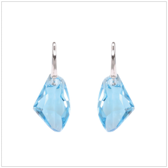 Swarovski Element Galactic Earrings - Aquamarine
