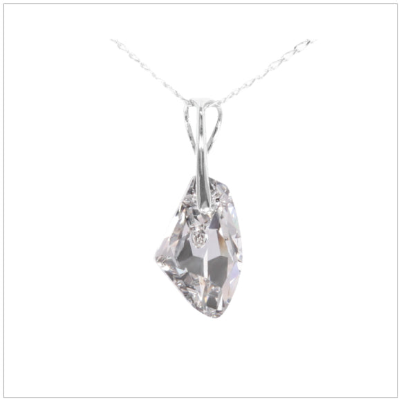 Swarovski Element Galactic Necklace - Chrome/Labrador