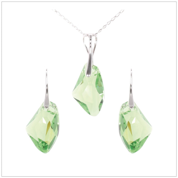 Swarovski Element Galactic Set - Peridot