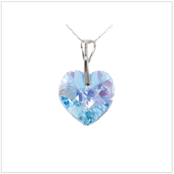 Swarovski Element Heart Necklace - Aquamarine - K. Crystals Online