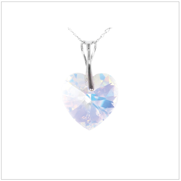 Swarovski Element Heart Necklace - Aurore Boreale - swarovski jewellery south africa kcrystals
