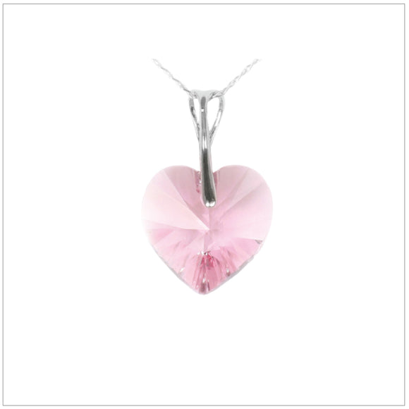 Swarovski Element Heart Necklace - Light Rose - swarovski jewellery south africa kcrystals