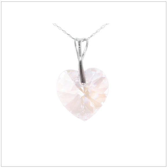 Swarovski Element Heart Necklace - Moon Light - swarovski jewellery south africa kcrystals