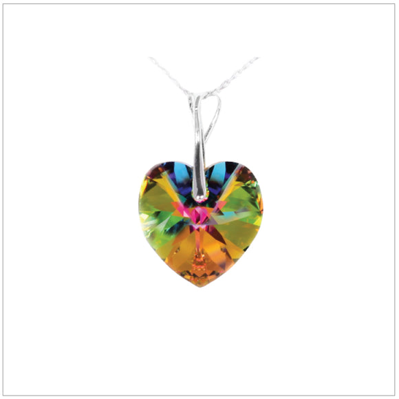 Swarovski Element Heart Necklace - Vitrail Medium - swarovski jewellery south africa kcrystals