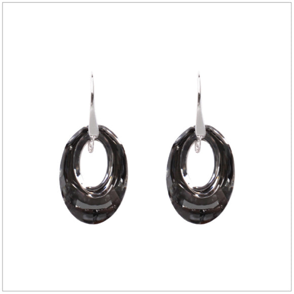 Swarovski Element Helios Earrings - Silver Night - swarovski jewellery south africa kcrystals
