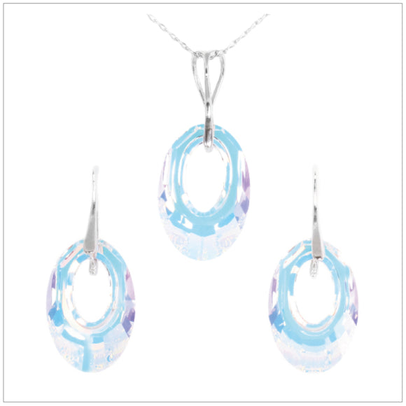 Swarovski Element Helios Set - Aurore Boreale - swarovski jewellery south africa kcrystals