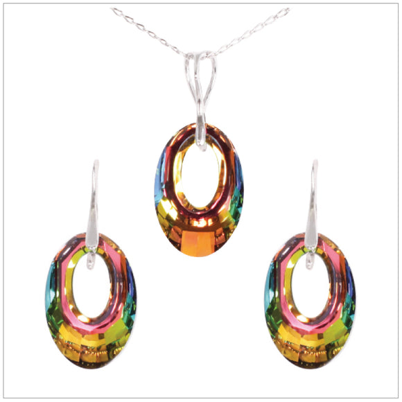 Swarovski Element Helios Set - Vitrail Medium - swarovski jewellery south africa kcrystals