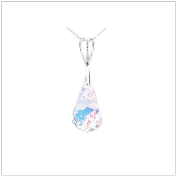 Swarovski Element Helix Necklace - Aurore Boreale