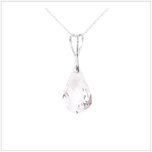 Swarovski Element Helix Necklace - Crystal