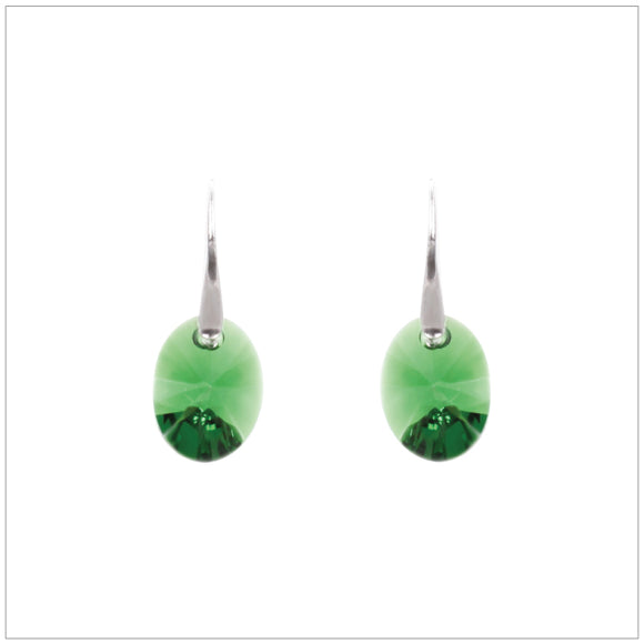 Swarovski Element Oval Earrings - Erinit